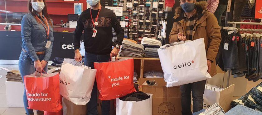Grâce aux dons de vêtements Celio